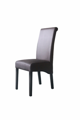 Sleek and High Back Parson's Chair with Smooth Finish by 4D Concepts