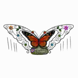 Sleek and Stylish Fiber Glass Butterfly Wine Chime Brand Woodland