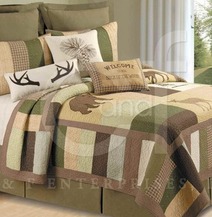 Sleepy Forest Cotton Oversized Queen Quilt Brand C&F