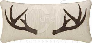 Sleepy ForestTufted Horn Pillow 12 x24 Inches Brand C&F
