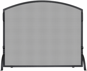 Small Single Panel Black Wrought Iron Arch Top Screen by Blue Rhino