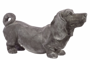 Smart and Chic Grey colored Fiberstone Polystone Dog by Urban Trends Collection