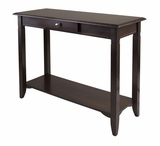 Smart Contemporary Styled Nolan Console Table with Drawer by Winsome Woods