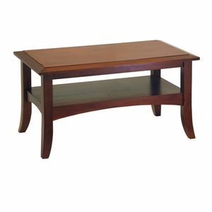 Winsome Wood Smart Crafted Wooden Coffee Table with Flare-tip Legs