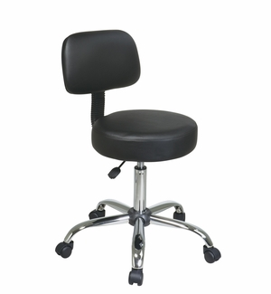Smart Pneumatic Drafting Chair with Black Vinyl Chair and Back by Office Star