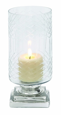 Smart styled Opaque Designed Glass Candle Holder by Woodland Import