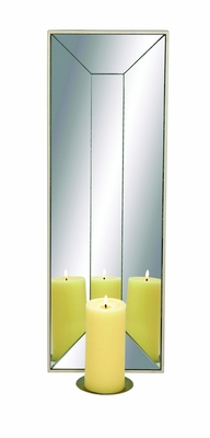 Smart Styled Wood Mirror Candle Sconce by Woodland Import