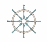 Smart Styled Wood Ship Wheel Wall D�cor by Woodland Import