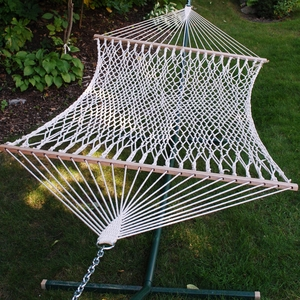 Smartly Styled 11' Cotton Rope Hammock by Alogma
