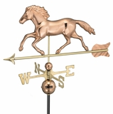 Smithsonian Running Horse Weathervane - Polished Copper by Good Directions