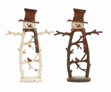 Snowman Decor 2 Assorted Brown Holiday Decor