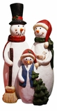 Snowman Family Statue by Alpine Corp