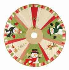 Snowplace Like Home Christmas Tree Skirt, 54 Inch Brand C&F