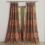 Sofia Floral Window Panel Pair - 1609DWP by Greenland Home Fashions