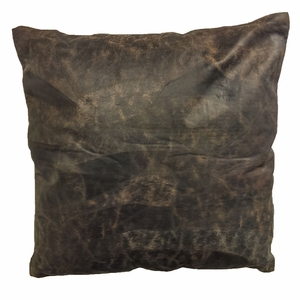 Soft and Comfortable Real Leather Pillow with Plush Filling Brand Woodland