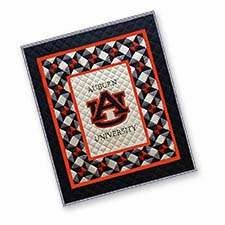 Soft, Cotton Filled Baby Quilt with the University of Auburn Logo Brand C&F
