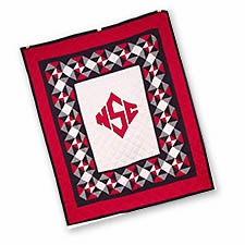 Soft Quilted Throws with the North Carolina State University Logo Brand C&F
