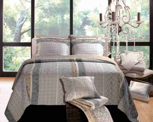 Soho Queen Quilt Set, 90 Inch X 90 Inch Brand Greenland Home Fashions