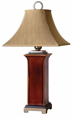 Solano Ceramic Table Lamp with Champagne Details Brand Uttermost