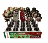 Solar Christmas Garden Stakes - Tray Display of 20 by Alpine Corp