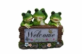Solar Frogs Welcome Statue by Alpine Corp