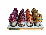 Solar Multi Colored Mushroom Garden Statuary - 4 Designs by Alpine Corp