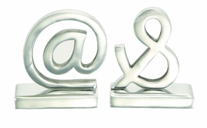 Solid Aluminum Metal Signs and Solid  Bookends Pair Statues Brand Woodland