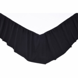 Solid Black King Bed Skirt 78x80x16