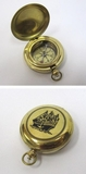 Solid Brass Dalvey Compass with Ship Logo in Pocket Watch Design by IOTC