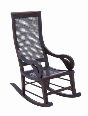 Solid Teak Wooden Rocking Chair for Indoor and Outdoor Furnishing Brand Woodland