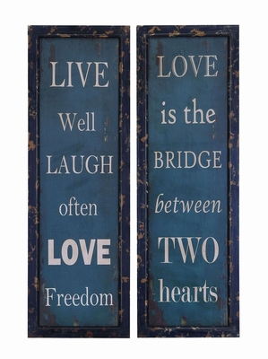 Solid Wood Inspirational Live Laugh Love Wall Plaque Brand Woodland