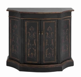 "Solid Wooden 37""H Cabinet with Sheer Cheery Wood Polish Brand Woodland"