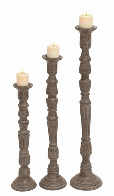 Solingen Candle Holder Captivating Plus Impressive Three-Piece Set Brand Benzara