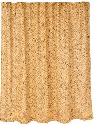 Somerville Shower Curtain in Classic Beige and Mud Hues Finish Brand VHC
