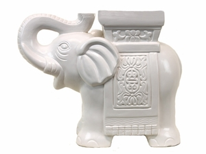 Sophisticated and Alluring Ceramic Elephant Animal Miniature by Urban Trends Collection