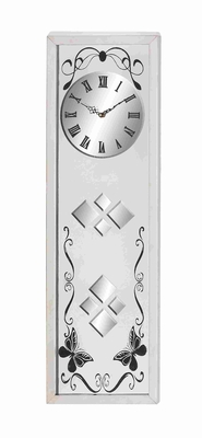 Sophisticated and Classy Steel and Glass Clock Brand Benzara