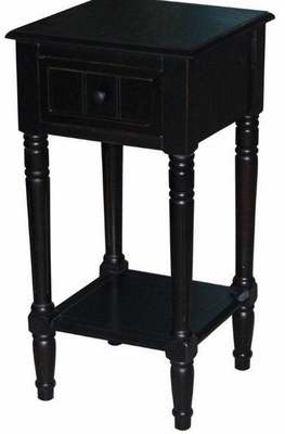 Sophisticated One Drawer Elegant End Table by 4D Concepts