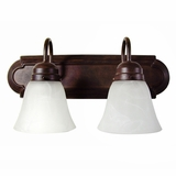 Sophisticated piece of 2 Lights Vanity Lighting in Dark Brown by Yosemite Home Decor