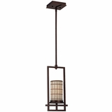 Sorrel Collection Attractive 1 Light Mini Pendant in Opaque Bronze by Yosemite Home Decor