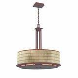 Sorrel Collection Attractive Stylized 4 Lights Pendant Lighting in Opaque Bronze by Yosemite Home Decor