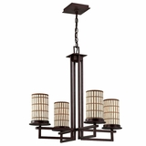 Sorrel Collection Elegant Stylized 4 Lights Chandelier in Opaque Bronze by Yosemite Home Decor