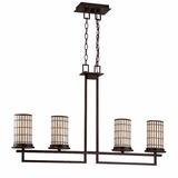 Sorrel Collection Fascinating Stylized 4 Lights Pendant Lighting in Brown by Yosemite Home Decor