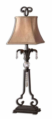 Sorrento Bronze Buffet Lamp with Crystal Accents Brand Uttermost