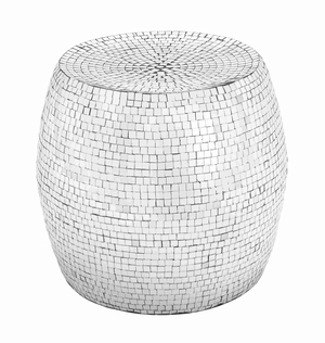Southampton Superlative Decorative Mosaic Stool Brand Benzara