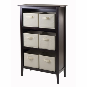 Spacious & Alluring Toscana 7pc Storage Shelf by Winsome Woods