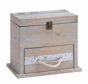 Spacious and Useful Square Shaped Wooden Box with Drawer Brand Woodland
