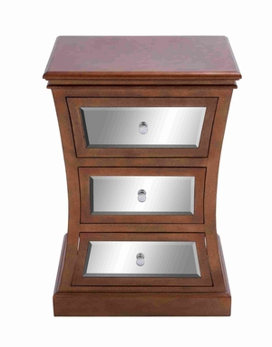 Spacious and Useful Wooden Mirror Cabinet with Three Drawers Brand Woodland