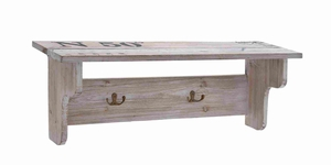 Spacious and Useful Wooden Wall Shelf Made of Finest Quality Wood Brand Woodland