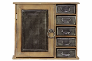 Spacious Six Sectioned Classy Wooden Cabinet
