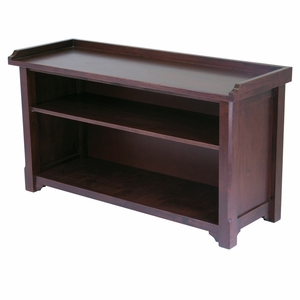 Winsome Wood Spacious & Sturdy Milan Bench with Storage Shelf
